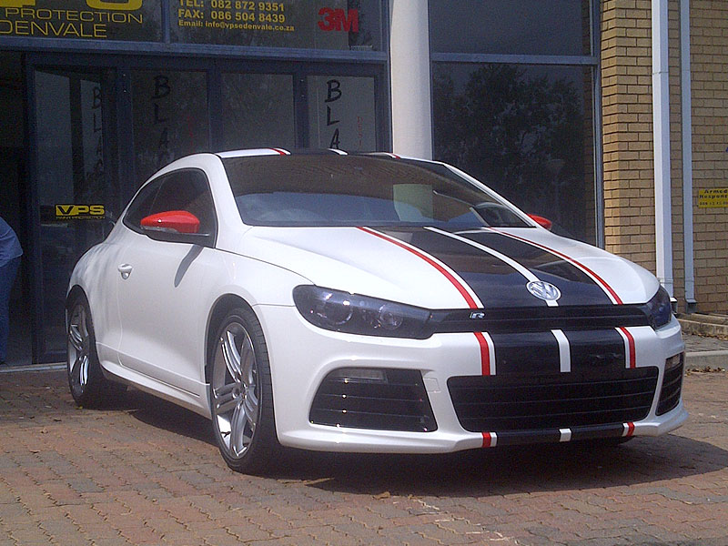 Vw scirocco custom decals black widow designer vehicle wraps