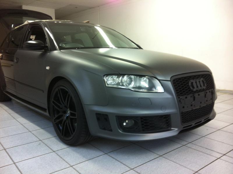 Audi Rs4 Full Matt Grey Wrap Black Widow Designer