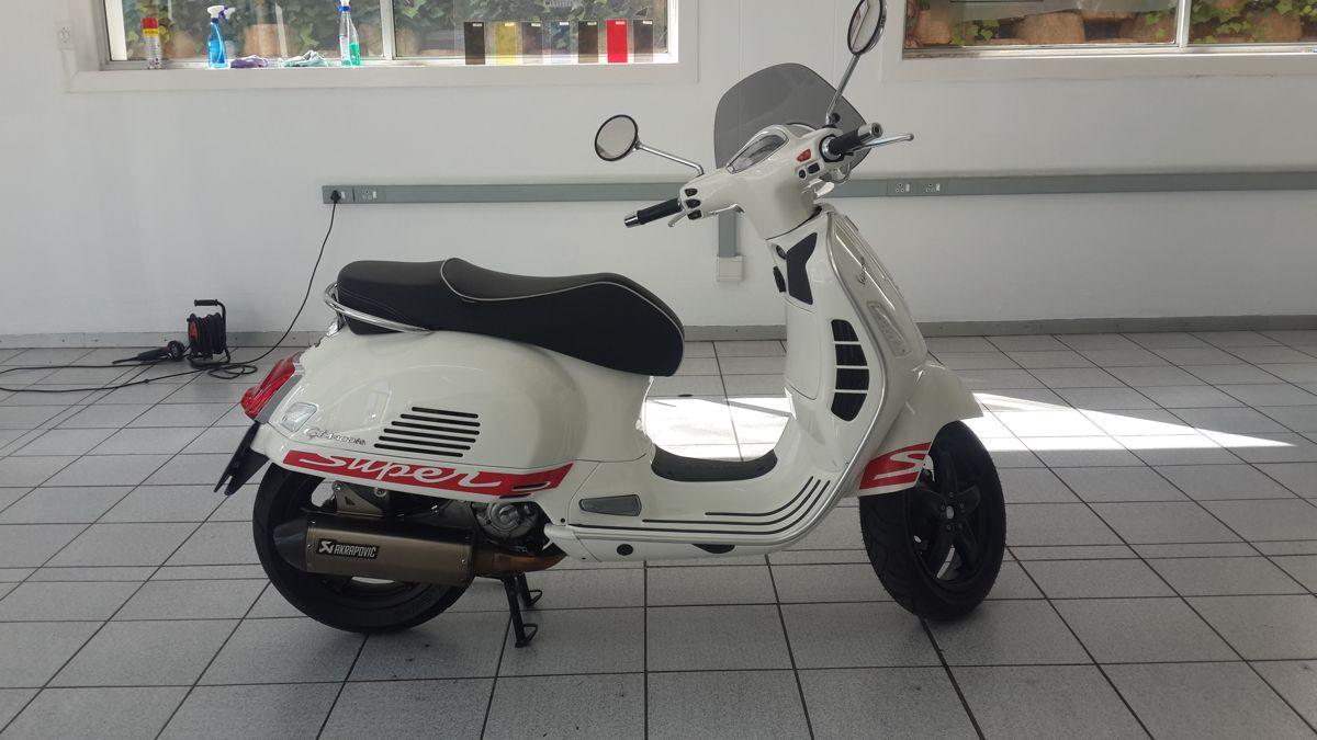 Vespa scooter custom decals black widow designer vehicle